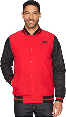 TNF Red Broken Grid Print