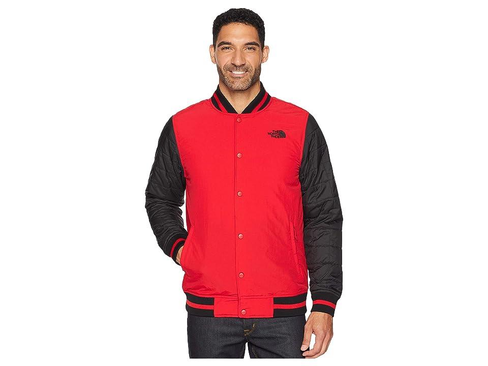The North Face Transbay Insulated Varsity Jacket (TNF Red Broken Grid Print) Men