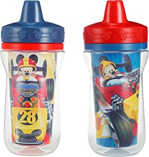 The First Years Insulated Sippy Cups, Mickey Mouse, 9 Ounce (Pack of 2)