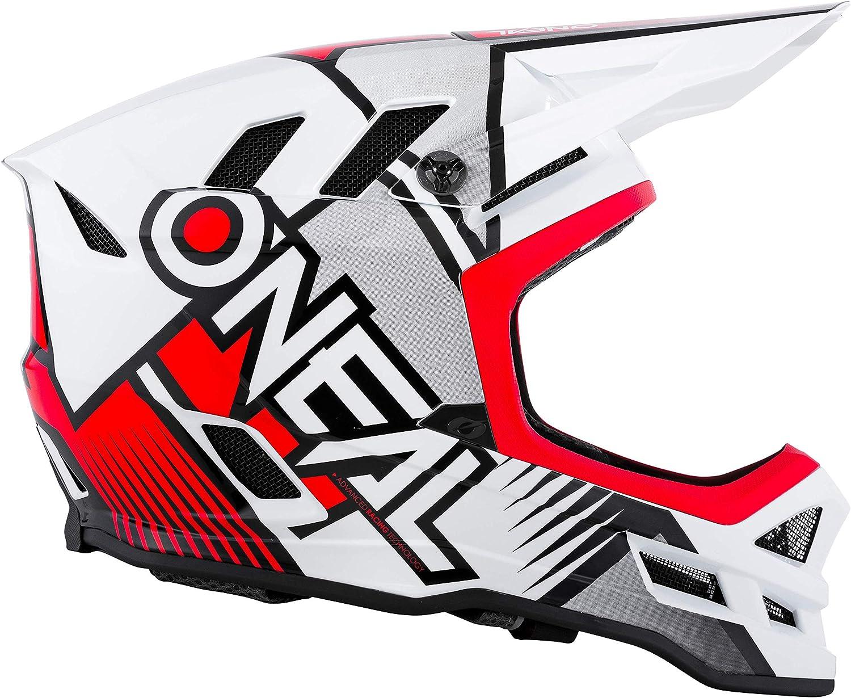 Oneal Blade Polyacrylite Helm Delta White Red Motocross Helm Sport Freizeit