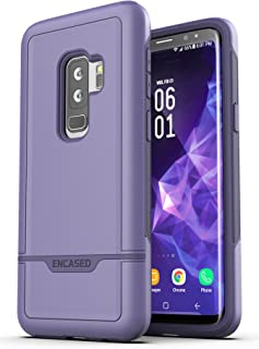 Encased Heavy Duty Galaxy S9 Plus Case (Rebel Armor) Military Grade Full Body Protective Cover for Samsung S9+ Phone (Purple)