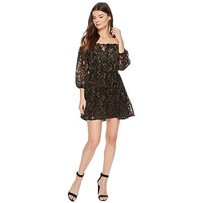 BB Dakota Westerly Velvet Burnout Dress (Black) Women