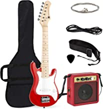 Best Choice Products 30in Kids 6-String Electric Guitar Beginner Starter Kit w/ 5W Amplifier, Strap, Case, Strings, Picks - Red