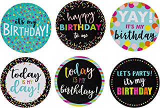 Happy Birthday to Me Stickers – 504-Piece Round It's My Birthday Label Set, Stickers Roll with 6 Assorted Designs for Teachers, Classroom, Offices, Birthday Celebration Stickers, 2 Inches Diameter