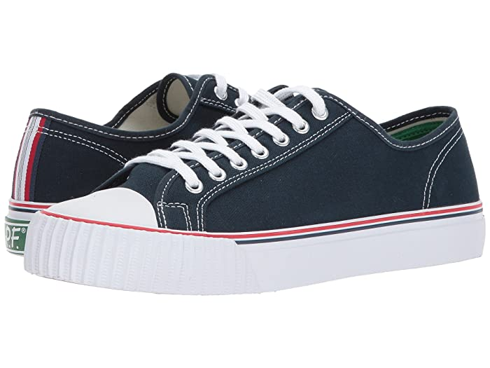 Vintage Sneakers, Retro Designs for Women PF Flyers Center Lo Navy Mens Shoes $40.95 AT vintagedancer.com