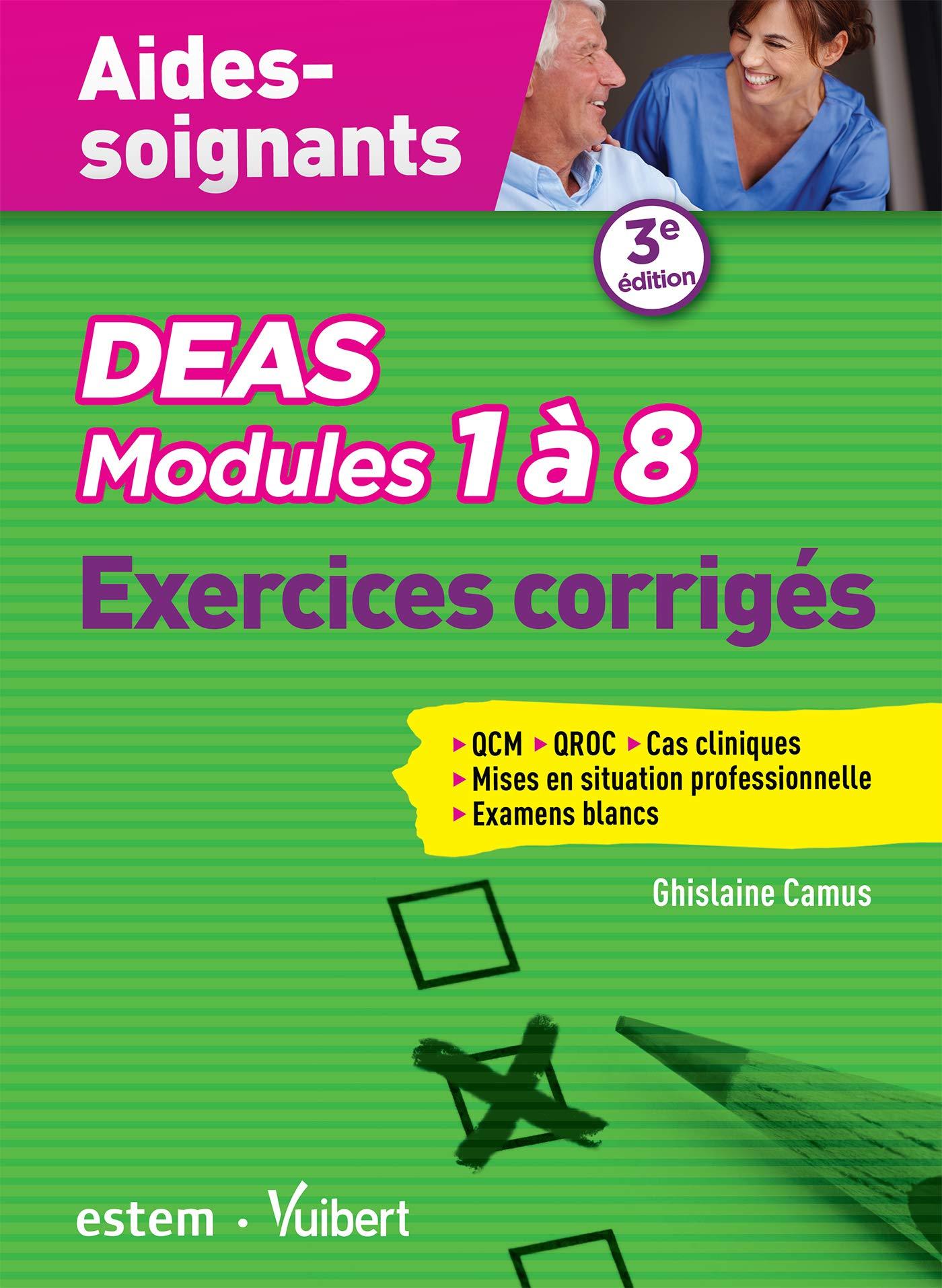 PDF] DEAS Modules 1  8 Exercices corrigs QCM, QROC, MSP, cas ...