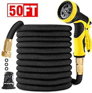 Garden Hose 50FT-Expandable Water Hose with Double Latex Core, 3/4