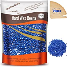 Hard Wax Beans for Painless Hair Removal, Brazilian Waxing for Face, Eyebrow, Back, Chest, Bikini Areas, Legs At Home 300g (10 Oz)/bag with 20pcs Wax Spatulas(Chamomile)