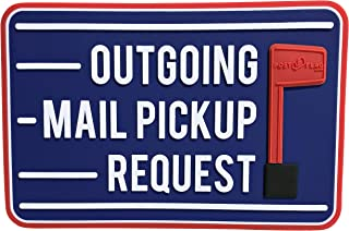 Post Flag Magnetic Replacement Flag for Outgoing Mail Pickup Horizontal 4X6 Inches