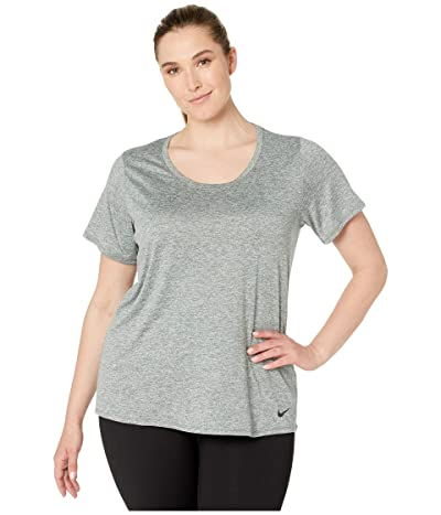 Nike Dry Training Top (Size 1X-3X) (Mineral Spruce/Pure Platinum/Black) Women