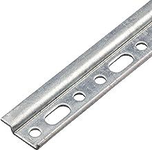 Gedotec Hangrail voor kastophanging, ophangrail - hangkasten & keuken, metalen montagerail met lengte 450 mm, verzinkt sta...