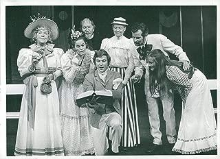 Vintage photo of Ingalill S246;derman, Ann Lundgren, Percy Brandt, Carl-Ivar Nilsson, Elsamarie Brandt, Ulf Qvarsebo and Gunilla Nyroos in Oscar Wildes