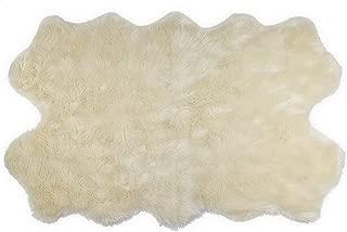 Nouvelle Legende Faux Fur Sheepskin Premium Rug Quattro (43 in. X 73 in.) White