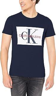 Calvin Klein Jeans Men's Monogram Box T-Shirt, Blue