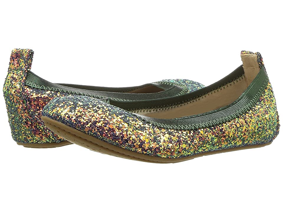 Yosi Samra Kids Miss Samara Limited Edition (Toddler/Little Kid/Big Kid) (Green Multi Iridescent Glitter) Girls Shoes