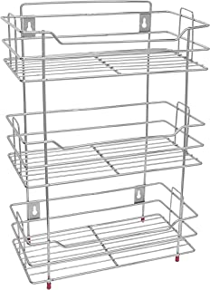 ADSHCEI Stainless Steel Wall Mount Multipurpose Storage Shelf/Rack for Bathroom and Home Kitchen (3 Layer)