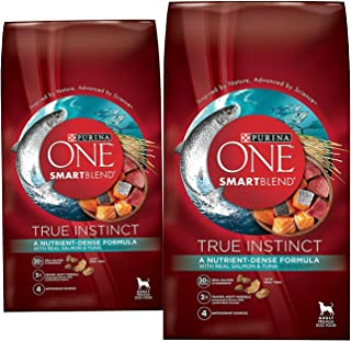 (2 Pack) Purina ONE Purina ONE Smartblend True Instinct Formula - Real Salmon & Tuna - 3.8 lb per bag