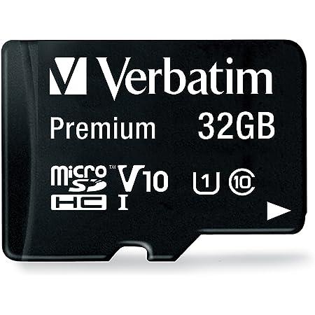 Verbatim Premium microSDHC Speicherkarte inkl. Adapter I 32 GB I schwarz I SD Karte für Full-HD Videoaufnahmen I wasserabweisend & stoßfest I SD Speicherkarte für Kamera Smartphone Tablet