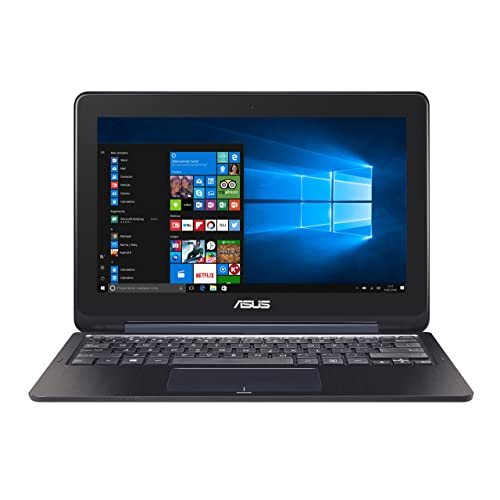 "ASUS TP200SA-FV0170TS - Ordenador Portátil con Pantalla Táctil de 11.6"" HD (Intel Celeron N3060 , 2 GB RAM, 32 GB EMMC, Intel HD Graphics 400, Windows 10 Home) Azul metálico - Teclado QWERTY Español"