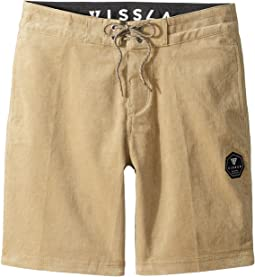 VISSLA Kids - Sofa Surfer Take It Easy Corduroy Casual Shorts (Big Kids)