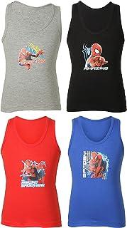 BODYCARE Spiderman Boys Vest Pack of 4
