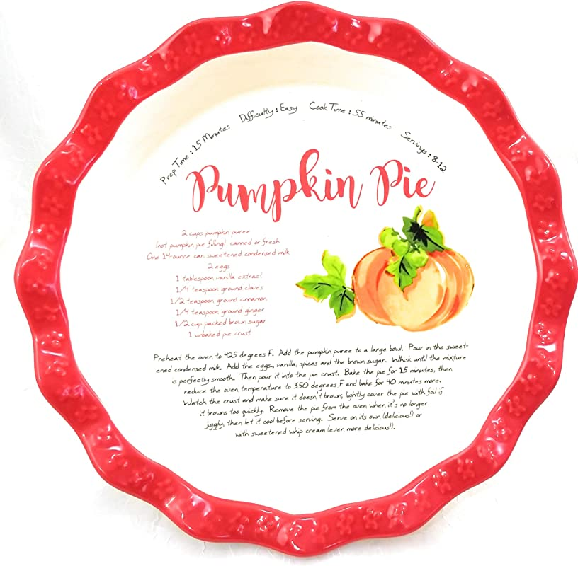 The Pioneer Woman Dazzling Dahlias Pumpkin Recipe 11 5 Inch Pie Plate Dish Pan