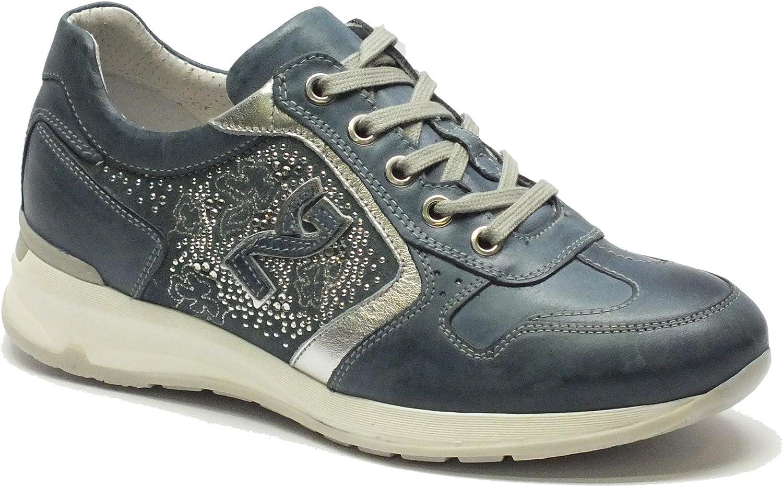 schwarz Giardini Schuhe schwarz Garten Garten Garten für Damen aus Leder Blau und Silber  1ef74e
