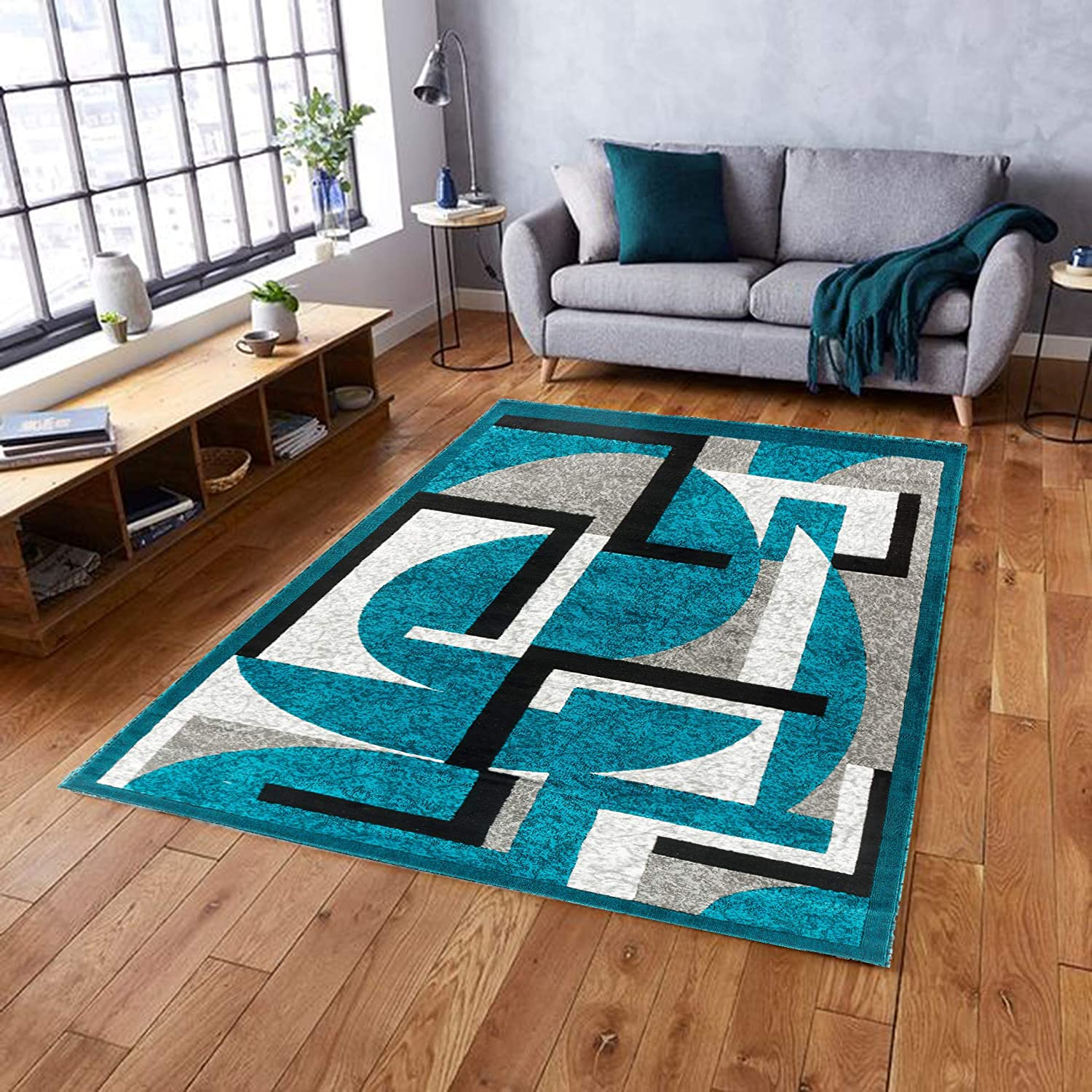 Canary Collection Modern Contemporary Area Max 46% OFF Geometric Popular brand in the world Design Rug