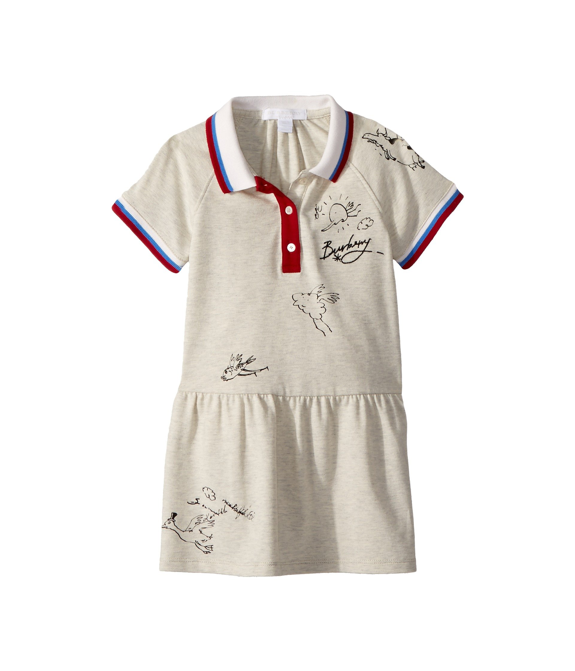 fcd19b5852f1 Burberry Kids Cali N 2 BLY Dress (Infant Toddler) at Luxury.Zappos.com