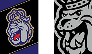 WinCraft James Madison JMU Dukes Garden Flag, Action Stripes and Charcoal Edition, 12.5x18 inches, 2 Sided
