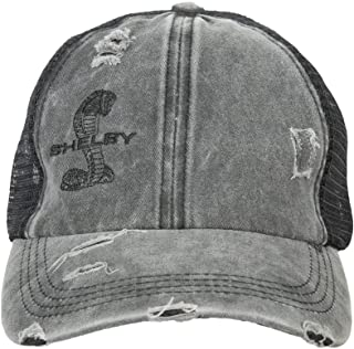 Shelby Ladies Distressed Black/Grey Ponytail Hat | Officialy Licensed Shelby Product | Adjustable, One-Size Fits All | Lig...