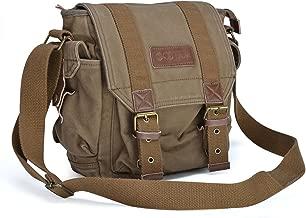 Gootium Canvas Messenger Bag - Small Vintage Shoulder Bag Crossbody Satchel