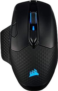 Corsair Dark Core RGB PRO kabellose Gaming Maus (18K DPI Sensor, schnellen Reaktionszeiten, Acht Programmierbare Tasten, Dynamische iCUE RGB Hintergrundbeleuchtung) schwarz