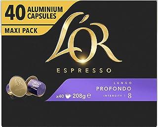 L'OR Espresso Koffiecups Lungo Profondo (160 Lungo Koffie Capsules, Geschikt voor Nespresso* Koffiemachines, Intensiteit 0...