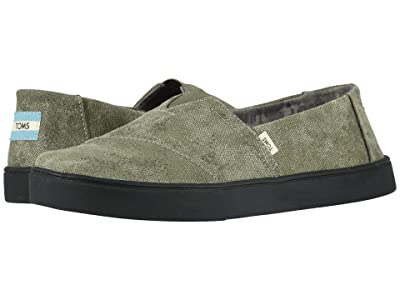 TOMS Alpargata Cupsole (Dusty Olive Distressed Printed Canvas) Men