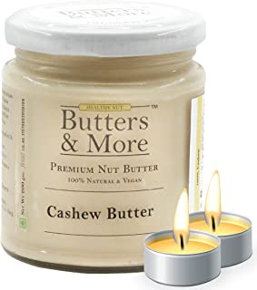 Butters & More Vegan Natural Cashew Butter (200G) Unsweetened Single Ingredient Nut Butter. with a Surprise Diwali Gift!