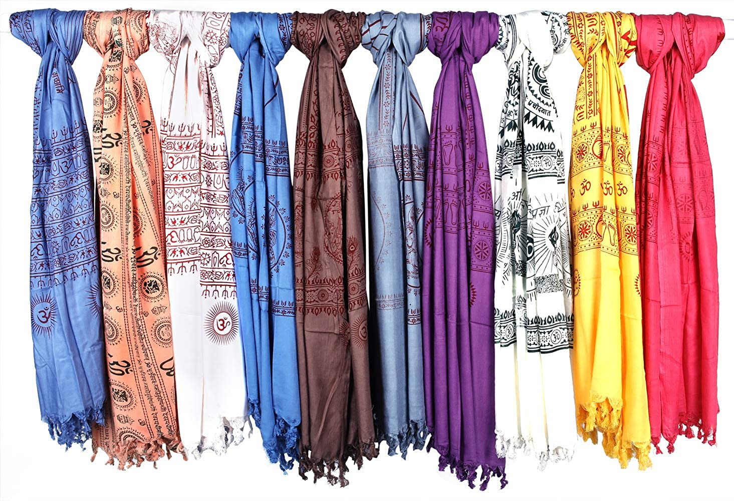 Exotic India Lot of Ten Multi - Color Sales results No. 1 Shawls Prayer Max 58% OFF