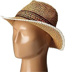 Crocheted Straw Hat