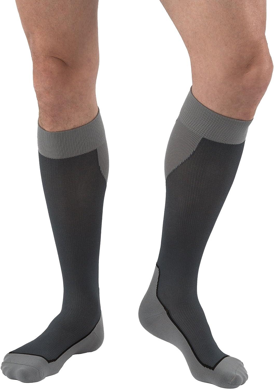 BSN Medical 7529003 JOBST Sock White//Grey Knee High 20-30 mmHg X-Large Closed Toe