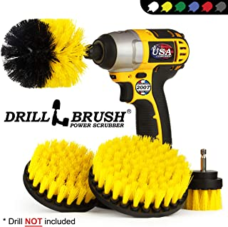 Drillbrush 4 Piece Nylon Power Brush Tile and Grout Bathroom Cleaning Scrub Brush Kit..