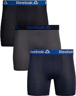Reebok Men's Athletic Performance Wicking Nylon Mesh Boxer Briefs (3 Pack)