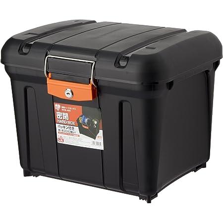アイリスオーヤマ 職人の車載ラック専用 ボックス 密閉 ハードBOX ブラック/オレンジ MHB-460