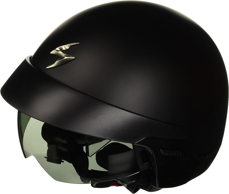 Scorpion Klapphelm Mit Abnehmbarem Helmeinstieg Und Externem Visier 58 Schwarz Auto