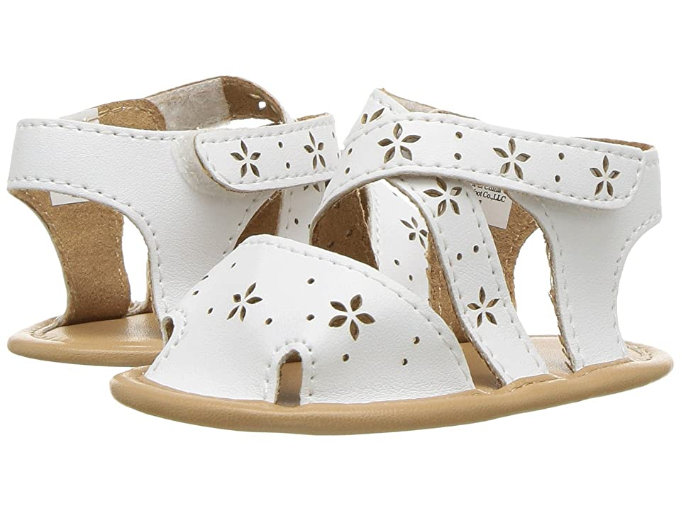 Baby Deer Soft Sole Sandal with Cut Outs (Infant) (White) Girls Shoes