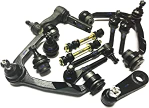 PartsW 12 Pc Suspension Kit for Ford Expedition F-150/F-250 Lincoln Blackwood Navigator Lower Ball Joints Upper Control Arms with Ball Joints Tie Rod Ends Sway Bars Idler & Pitman Arms 4WD Models