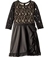 Lace and Leather Dress (Big Kids)