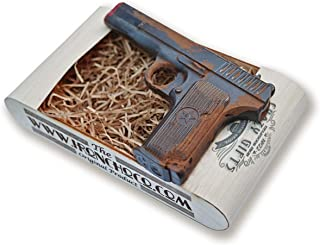 IronChoco Chocolate Pistol Real Size Solid in Handmade Gift Box - Gift for Men, Cool Gift for Friend