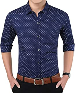 Super weston Dotted Cotton Shirts for Men for Regular Purpose,Available Sizes M=38,L=40,XL=42,100% Pure Cotton Shirts