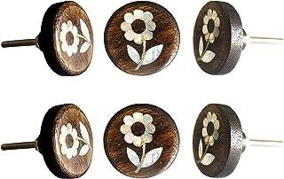Cuigu 10 pomelli in Legno Naturale per Guardaroba