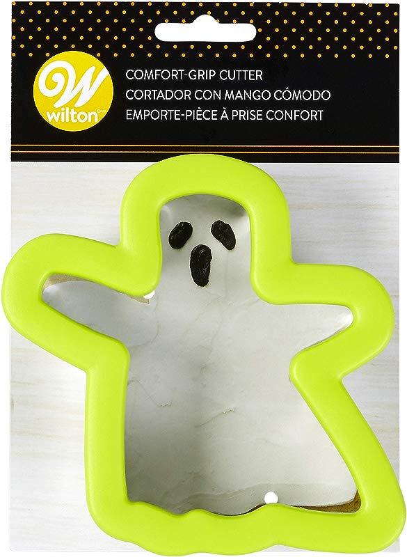 Wilton Comfort Grip Green Ghost Cookie Cutter 2310 3741